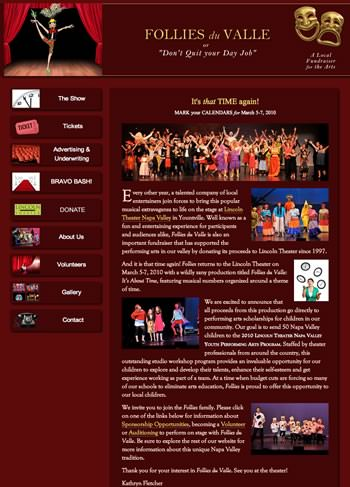 Theatrical website design