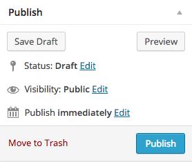 publish wordpress post page