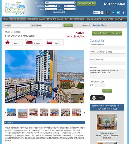 San Diego Realtor Website Design