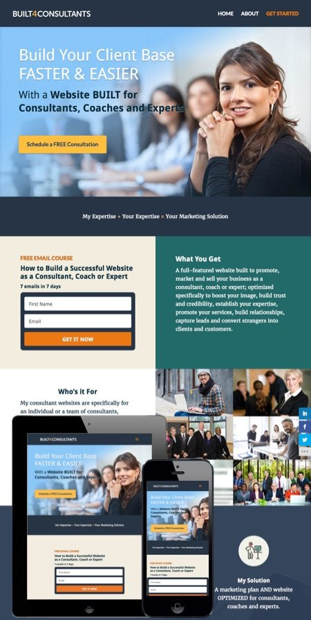 Web design portfolio fresh modern websites by david tierney for Web design consultant