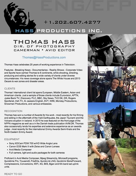 Video Productions Website Design