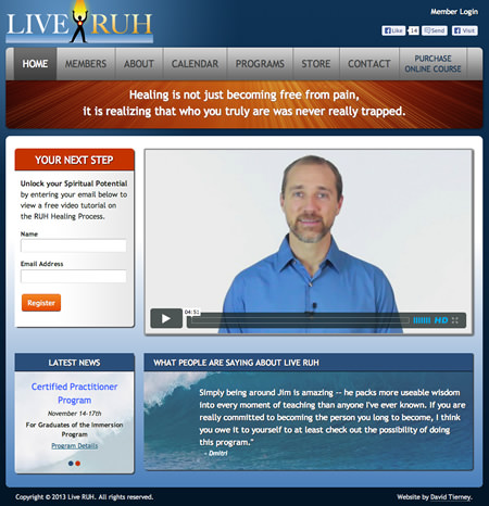 Spiritual Healer Website Design
