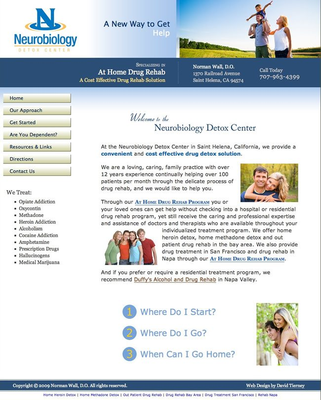 At Home Detox Website Design