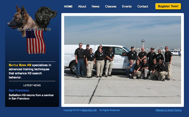 Battle Born K9 Website Design