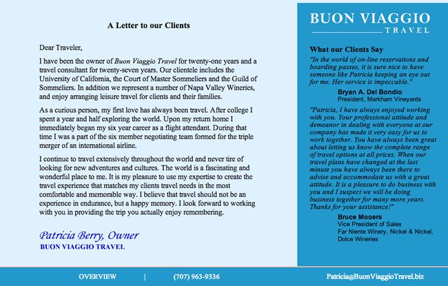 Buon Viaggio Travel Website Design