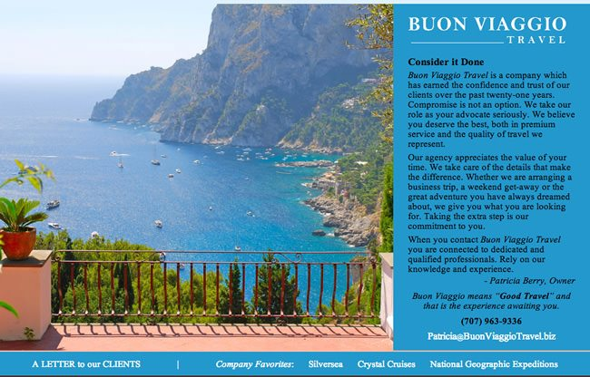 Buon Viaggio Travel Website Design