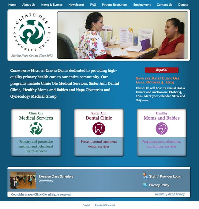 Clinic Ole Website Design
