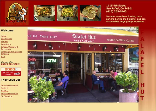 Falafel Hut Website