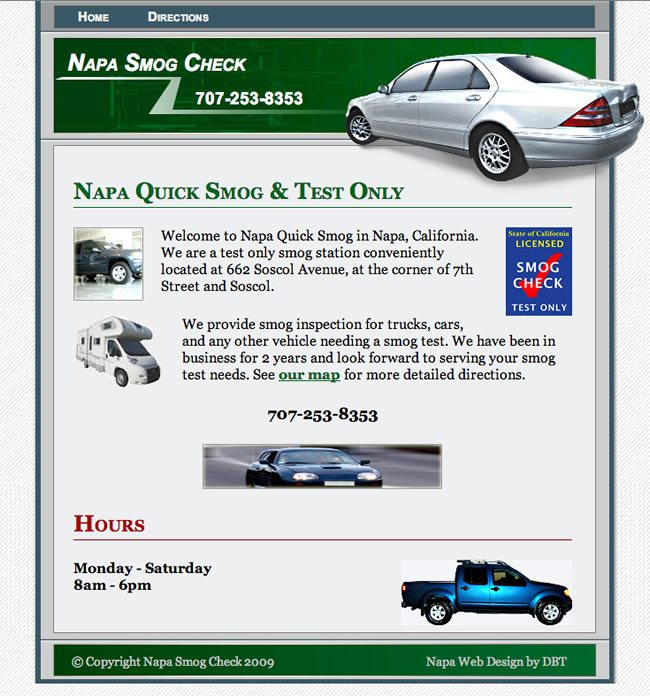 Napa Quick Smog Website
