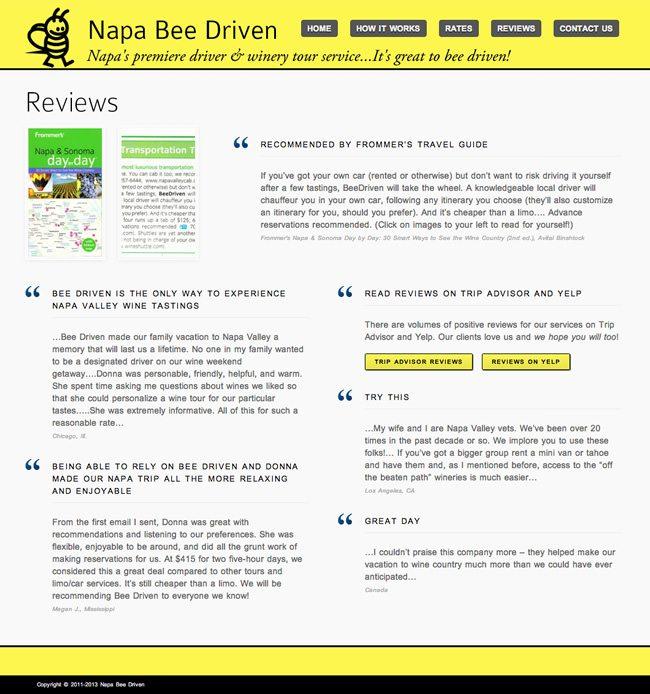 Napa Bee Driven Website Design