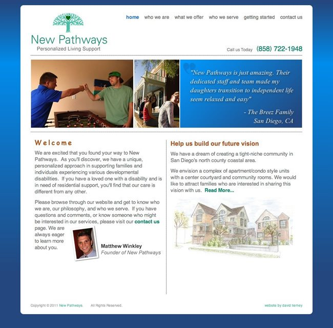 New Pathways Website Design