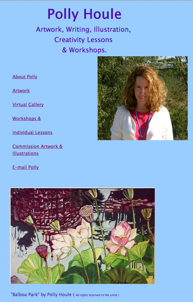 Polly Houle Website