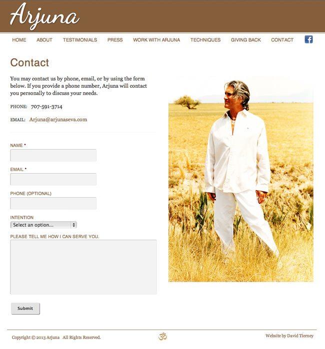 Arjuna Website Design