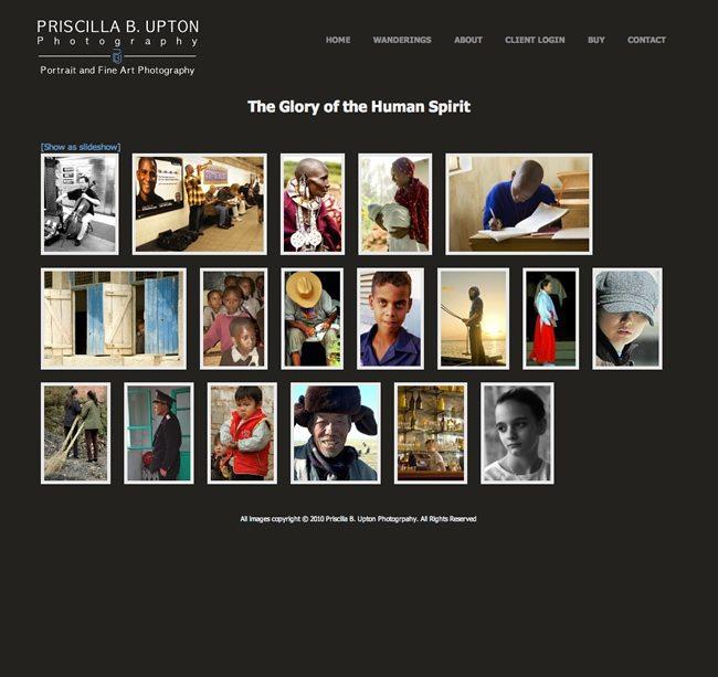 Priscilla B. Upton Photography Website Design
