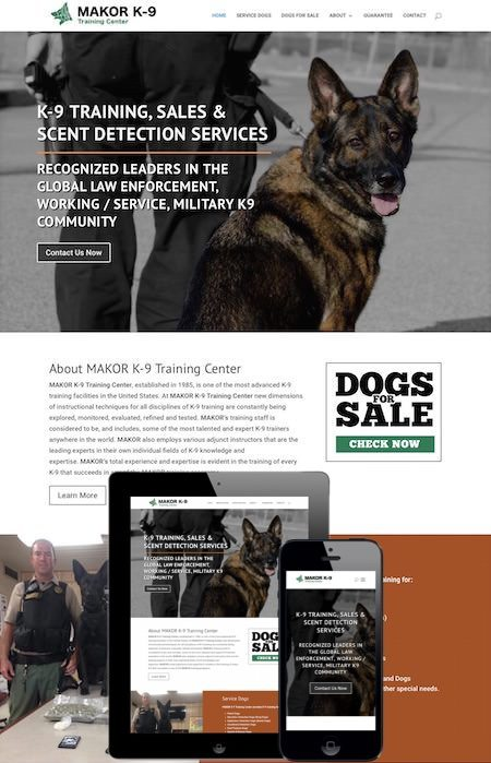Makor K9 Mobile Friendly Website