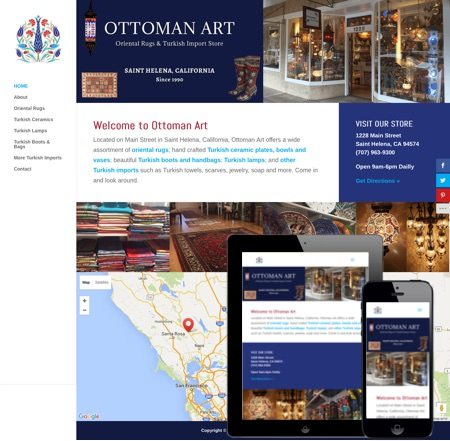 Responsive Retail Store Website