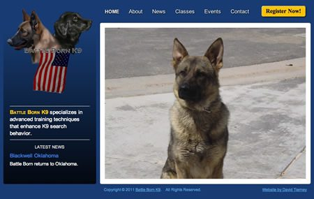 K9 Trainer Website Design