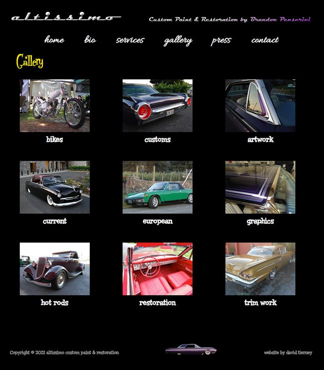 Altissimo Restoration Website Design