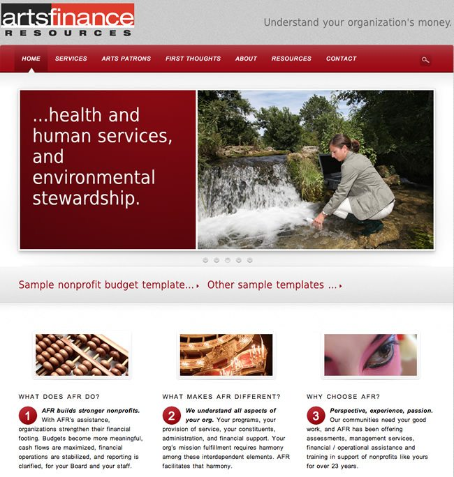 Arts Finance Website