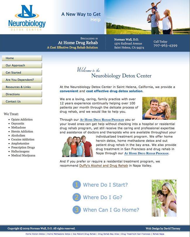 At Home Detox Website Design