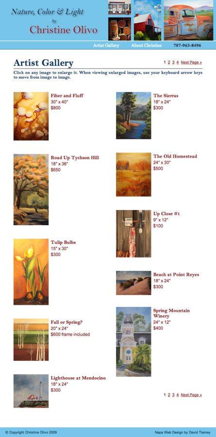 Christine Olivo Artist Website Design