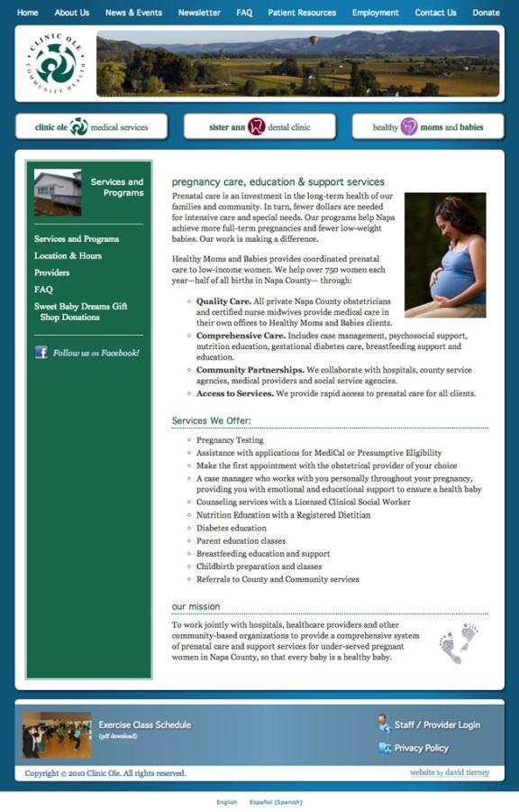 Clinic Ole Website Design