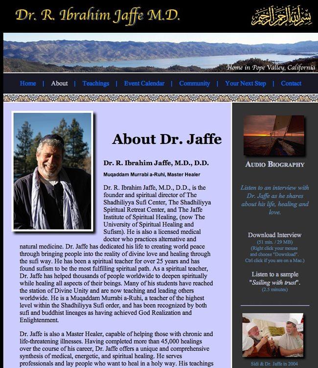 Dr. Robert Ibrahim Jaffe MD Website