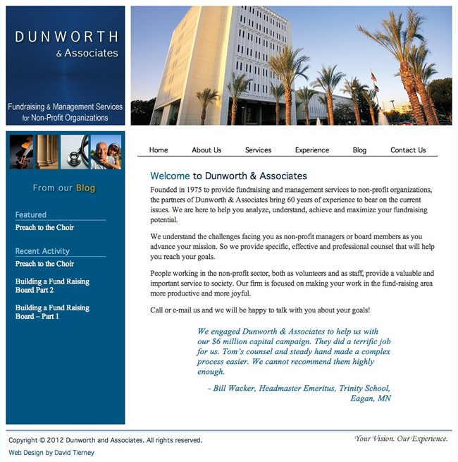 Dunworth & Associates Website Design
