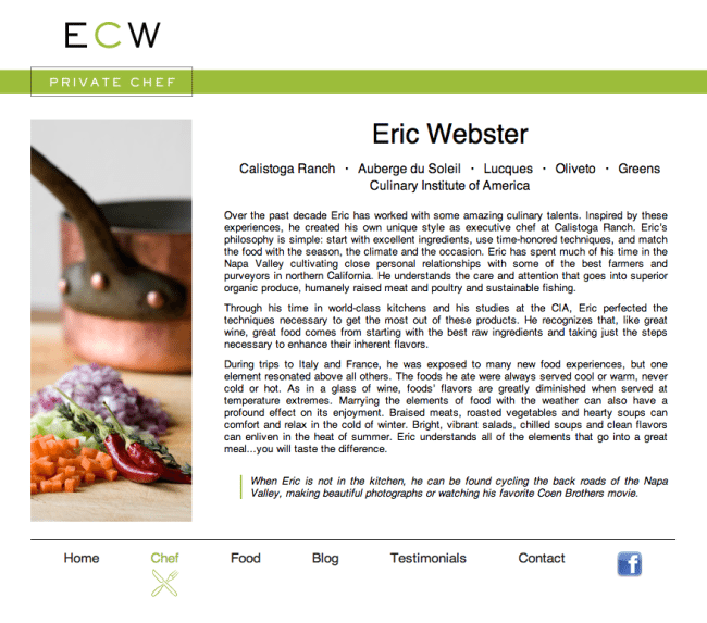 Eric Website Website Design
