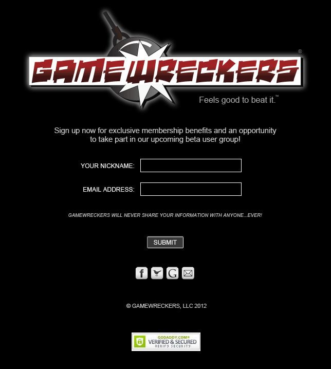 GAME WRECKERS Website