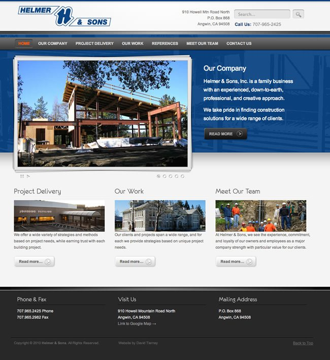 Helmer and Sons Website