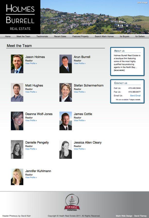 Marin Realtor Website Design
