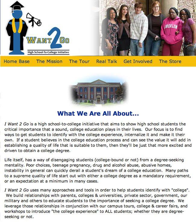I Want 2 Go Website Design