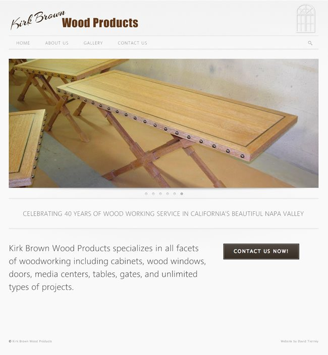 Kirk Brown Wood Products Website Design
