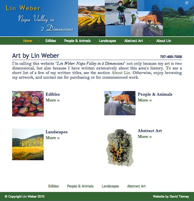 Lin Weber Artist Website Design