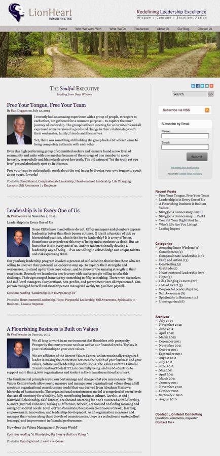 LionHeart Consulting Website Design