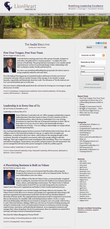 LionHeart Consulting Website Design
