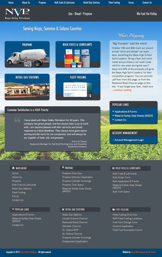 Napa Valley Petroleum Website Design