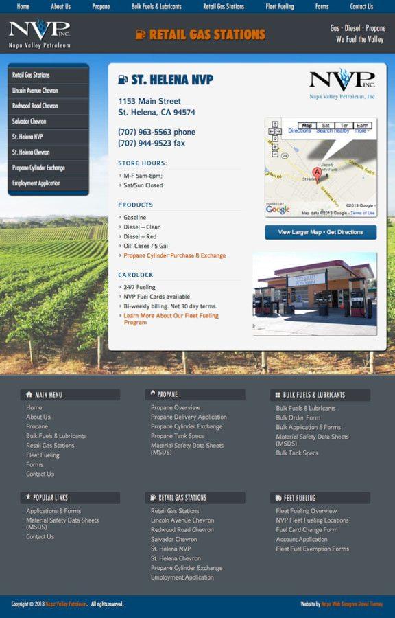 Napa Valley Petroleum Website Design