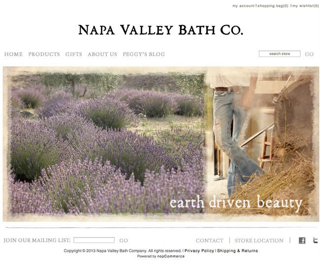 Napa Valley Bath Company Website