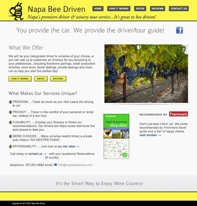 Napa Bee Driven Website Design
