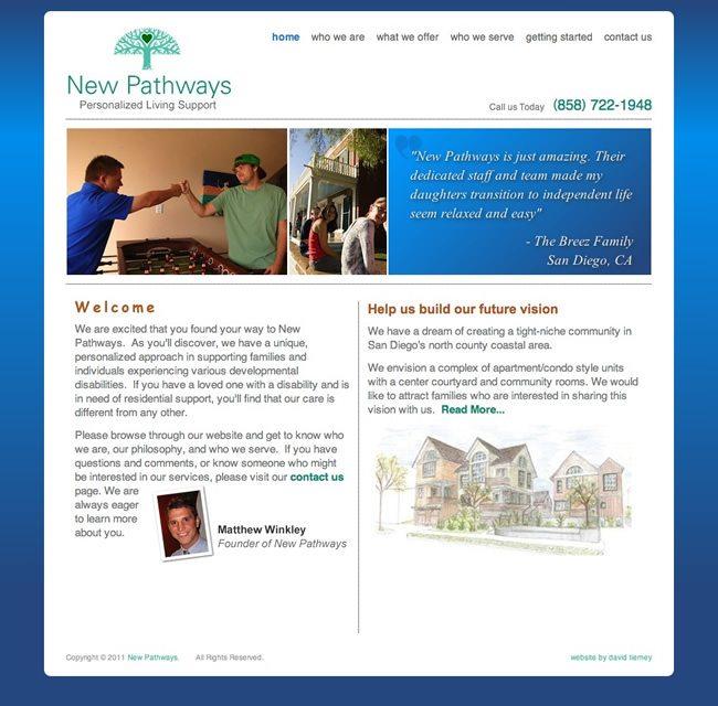 New Pathways Website Design