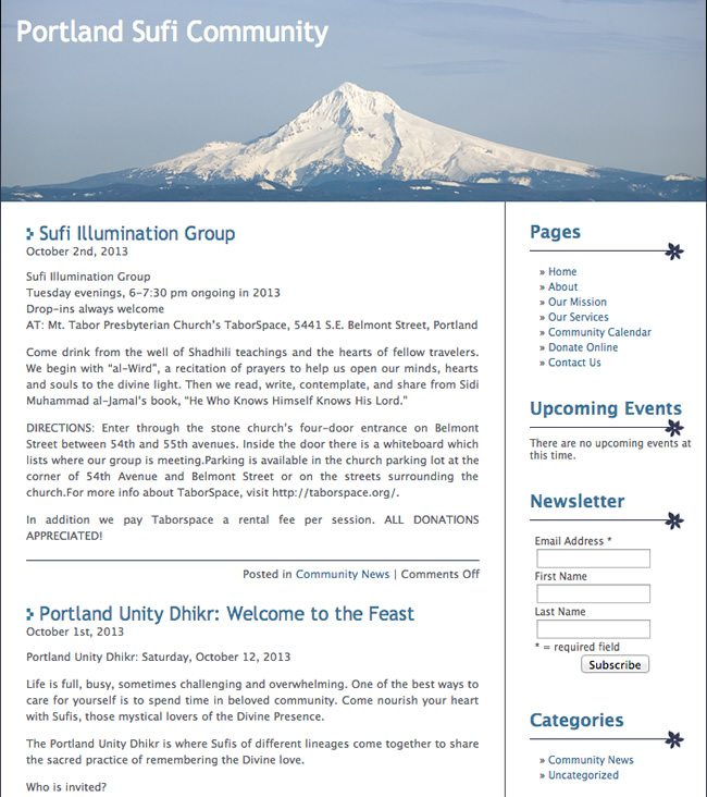 Portland Sufi Community Website