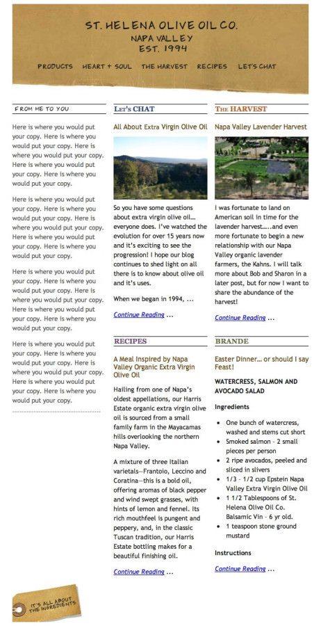 St Helena Olive Oil Blog