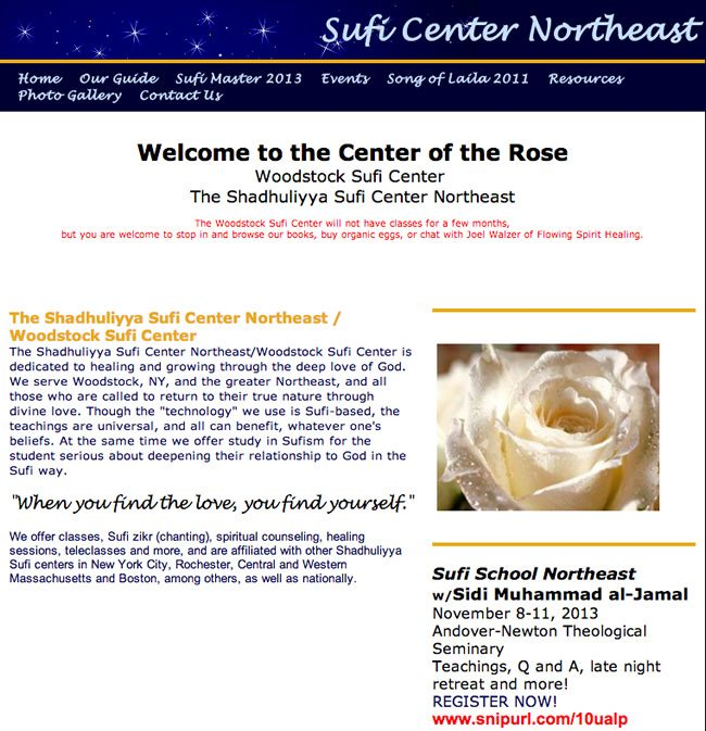 Sufi Center Northeast Website