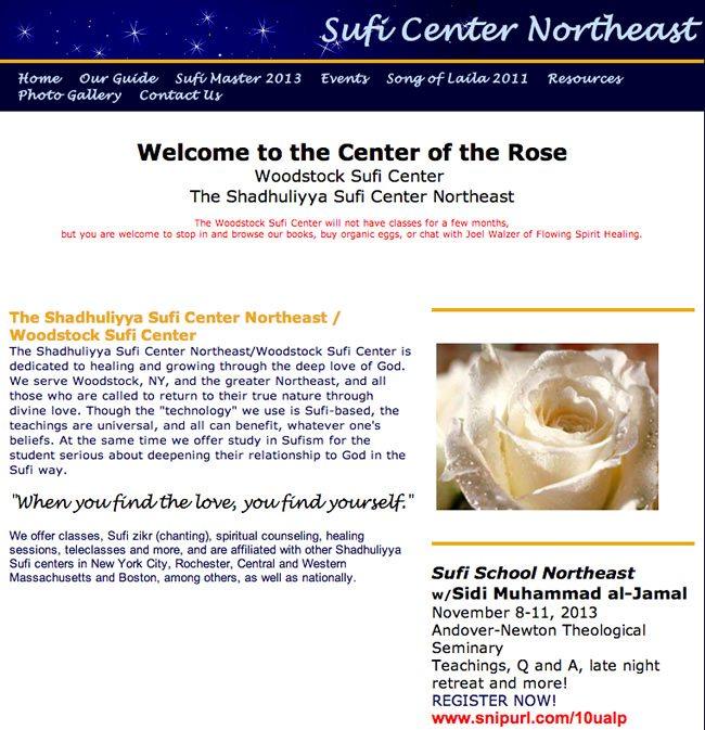 Sufi Center Northeast Website