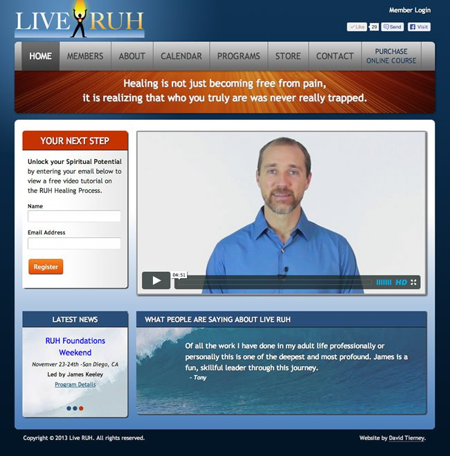 Live RUH Website Design