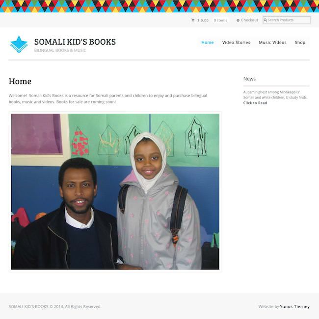 Somali Kids Book Web Development