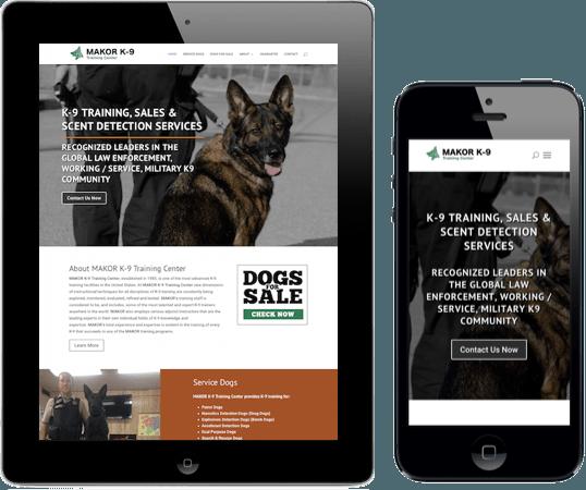Makor K9 Napa web design and development