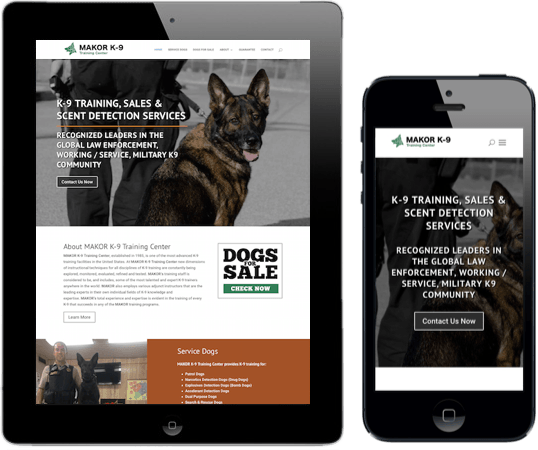 Makor K9 Napa web design and development
